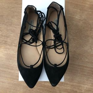 Size 9 Black Elenor Suede Lace Up Shoes